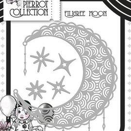 Yvonne Creations Troquelado y estampado en relieve plantilla de filigrana de la luna