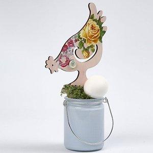 Objekten zum Dekorieren / objects for decorating NOUVEAU: poulet, H 26 cm 19,5, 2 assortis