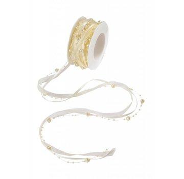 DEKOBAND / RIBBONS / RUBANS ... beautiful pearl necklace!