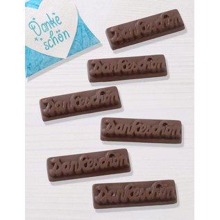 Modellieren voor het gieten van vloeibare chocolade.