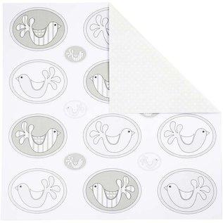 Karten und Scrapbooking Papier, Papier blöcke Carta di disegno, 30,5 x30, 5 cm, 5 fogli