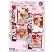 """BASTELSETS / CRAFT KITS Komplet Craft Kit, kort til forskellige lejligheder """"kærlighed bjørne"""""""