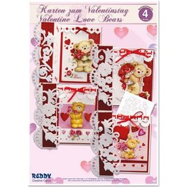 """BASTELSETS / CRAFT KITS Kit complet Artisanat, cartes pour différentes occasions """"ours d'amour"""""""
