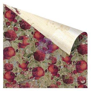 """Designer Papier Scrapbooking: 30,5 x 30,5 cm Papier Ontwerper document, """"Roses Are Red"""" 30,5 x 30,5 cm"""