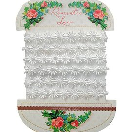 DEKOBAND / RIBBONS / RUBANS ... very pretty romantic lace - romantic lace flowers