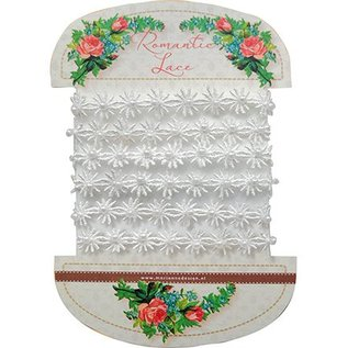 DEKOBAND / RIBBONS / RUBANS ... Romantic lace flowers, 100cm
