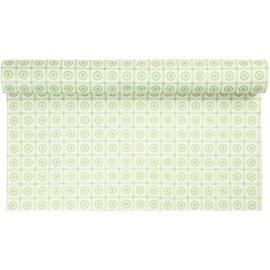 FILZ / FELT / FEUTRE Diseño sentía, W: 45 cm, color verde con motivos, 1 m