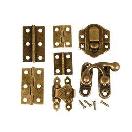 Embellishments / Verzierungen Mini Fittings, størrelse 30 mm, antikk gull