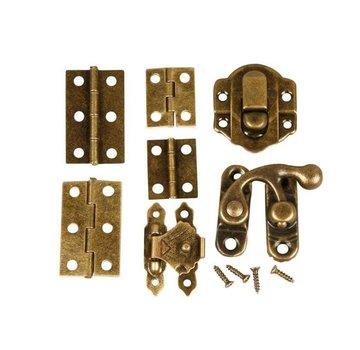 Embellishments / Verzierungen Mini Fittings, maat 30 mm, antiek goud