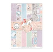 Karten und Scrapbooking Papier, Papier blöcke Blocco di progettazione con foglio tranciato