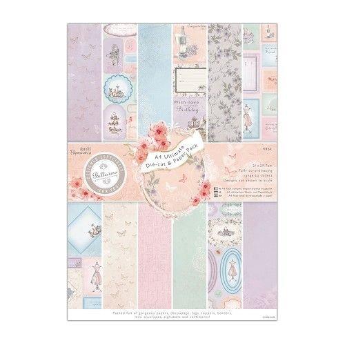Karten und Scrapbooking Papier, Papier blöcke Ontwerperblok met geponst vel