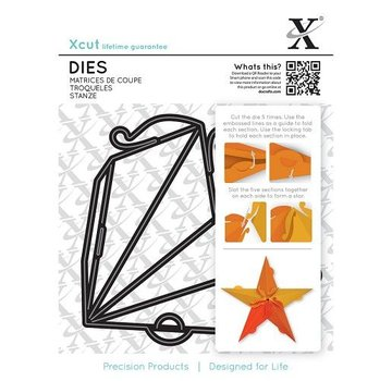 Docrafts / X-Cut Punch - and embossing template for a star