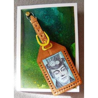 Docrafts / X-Cut Ponsen en embossing stencils, stansmessen (9 stuks) - All Aboard - Luggage Tag (Large)