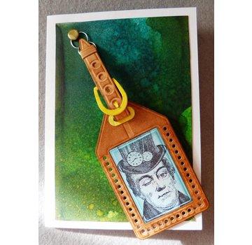 Docrafts / X-Cut Punzonatura e goffratura stencil, matrici di taglio (9 pezzi) - All Aboard - Deposito Tag (Large)