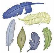 Spellbinders und Rayher Metal template Shapeabilities, spring, A set of 6 templates.