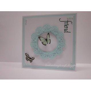 Spellbinders und Rayher Metallschablone Shapeabilities, Vintage Lace Motifs, 2,5 x 2,4 - 9 cm, Ein Set mit 5 Schablonen!