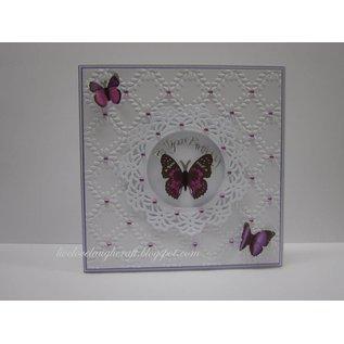 Spellbinders und Rayher Metal mal Shapeabilities, Vintage Lace motiver, 2,5 x 2,4 til 9 cm, A Sett med 5 maler!