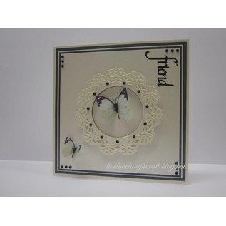 Spellbinders und Rayher Metalen sjabloon Shapeabilities, Vintage Lace Motieven, 2,5 x 2,4-9 cm, een set van 5 templates!