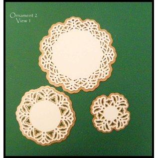 Spellbinders und Rayher Shapeabilities modello di metallo, Vintage Pizzo motivi, 2,5 x 2,4-9 cm, un set di 5 modelli!