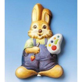 Modellieren Decoratieve plug konijn met kleurenpalet, 22x14cm, materiaalvereisten 500g