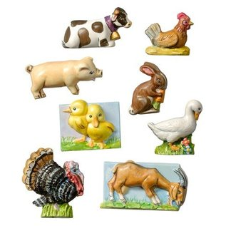 Modellieren Bauernhof,3 bis 4cm,8 tlg.,Materialbedarf 240 g.