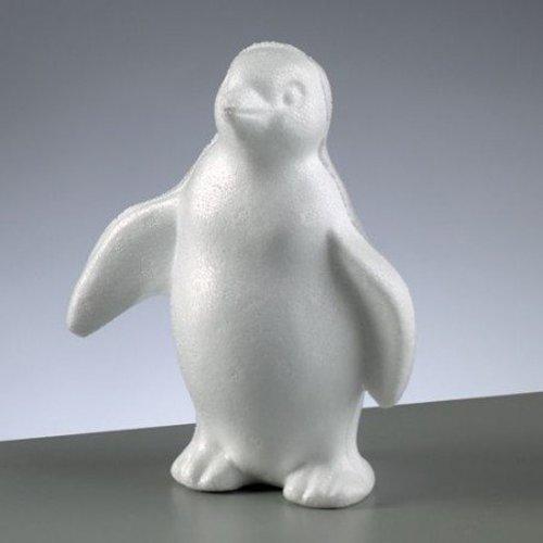 Objekten zum Dekorieren / objects for decorating 1 Styroporform, Pinguin stehend, 180 mm