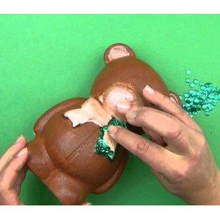 Objekten zum Dekorieren / objects for decorating 1 Styroporform, Bär mit Schleife, 20 cm