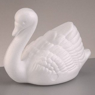 Objekten zum Dekorieren / objects for decorating 1 formulaire de styromousse, cygne grands, 12 x 17 cm