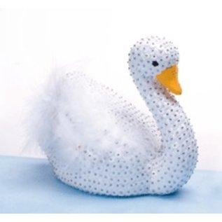 Objekten zum Dekorieren / objects for decorating 1 styrofoam form, swan big, 12 x 17 cm