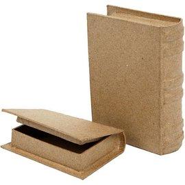 Objekten zum Dekorieren / objects for decorating 2 boîte sous forme de livre en deux tailles!
