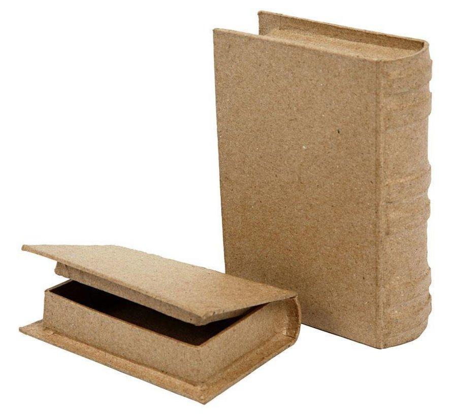 2 Schachtel in Buchform, in 2 Größen!