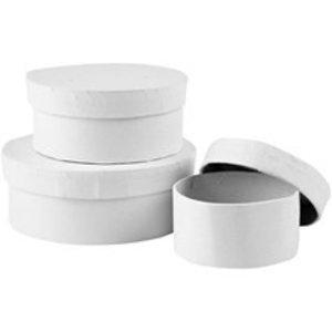 Objekten zum Dekorieren / objects for decorating Boîte en carton ensemble, rond