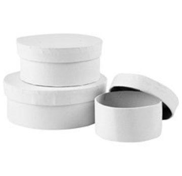 Objekten zum Dekorieren / objects for decorating Scatola di cartone set, rotondo