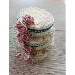 Objekten zum Dekorieren / objects for decorating Kartonnen box set, rond