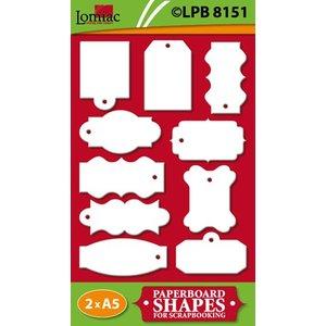Embellishments / Verzierungen Spaanplaat Labels