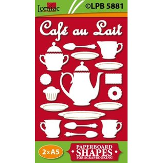 Embellishments / Verzierungen Spaanplaat motieven Café au Lait
