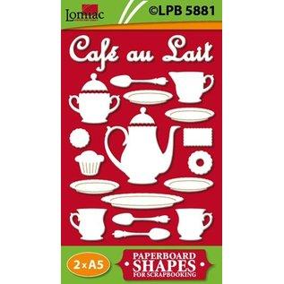 Embellishments / Verzierungen Sponplater motiver Café au Lait