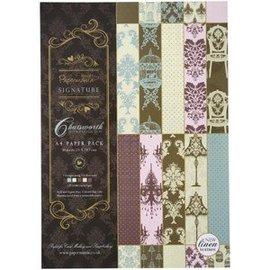Karten und Scrapbooking Papier, Papier blöcke A4 luxe linnenpapier, 30 vellen, 120 g / m2