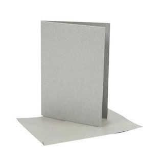 KARTEN und Zubehör / Cards Afmeting kaart 10,5 x15 cm, 10 Set-keuze: goud, zilver of crème kleur