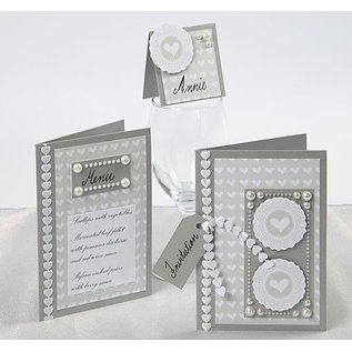KARTEN und Zubehör / Cards Card size 10,5 x15 cm, 10 Set selection: gold, silver or cream color
