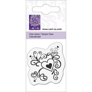 Cart-Us pequeño corazón con rizos, 5x6cm