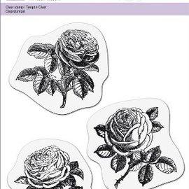 Cart-Us Gennemsigtig stempel, 3 roser
