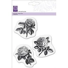Cart-Us timbre transparent, 3 roses