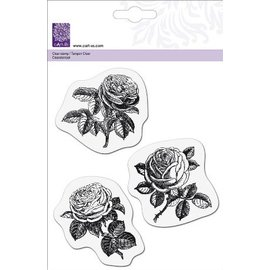 Cart-Us Transparent Stempel, 3 Rosen