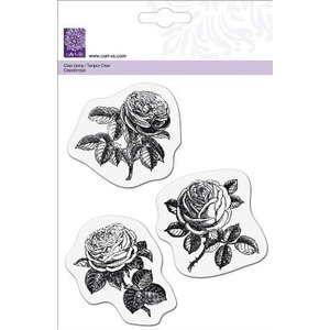 Cart-Us Transparant stempel, 3 rozen