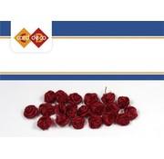 DEKOBAND / RIBBONS / RUBANS ... små røde roser, 20 stykker