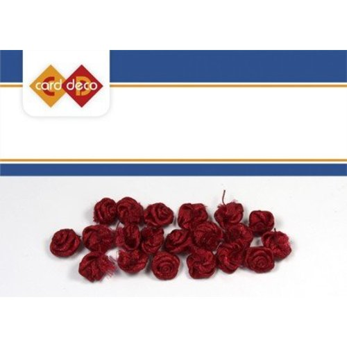 DEKOBAND / RIBBONS / RUBANS ... kleine rode rozen, 20 stuks