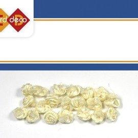 Embellishments / Verzierungen kleine weiße Röschen, 20 Stück