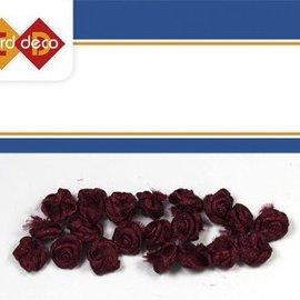 Embellishments / Verzierungen 20 små mørkerøde roser