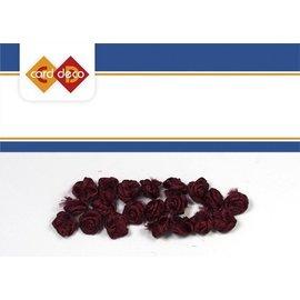 Embellishments / Verzierungen 20 kleine dunkel rote Röschen